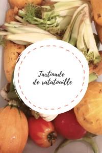 """Page de titre de la recette """"Tartinade de ratatouille"""""""