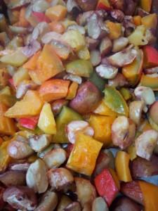 Mélange de fruits coupés